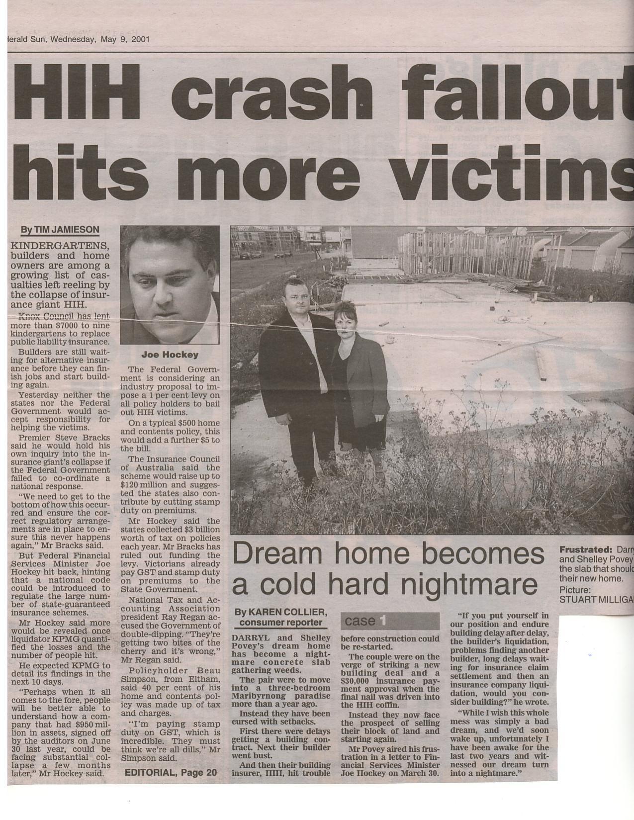 97-HIH Crash Fallout Hits more Victims